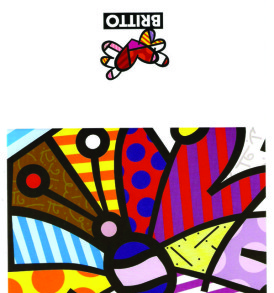 postais romero britto BUTTERFLY