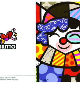 postais romero britto CLOWN