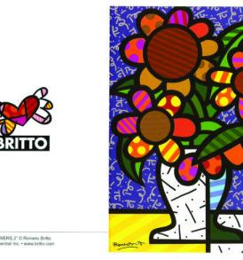 postais romero britto FLOWERS 2