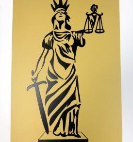 Deusa da Justiça Ouro