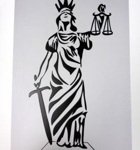 Deusa da Justiça Prata
